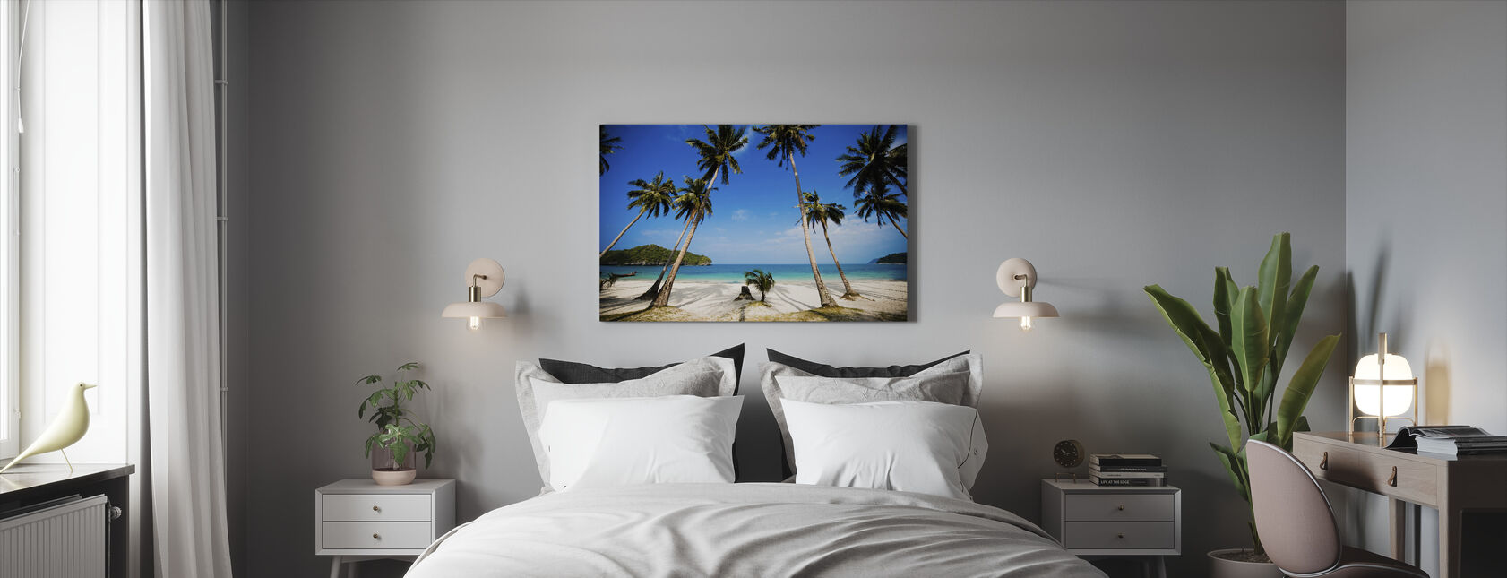 Coconut Palms, Thailand - Canvas print - Bedroom