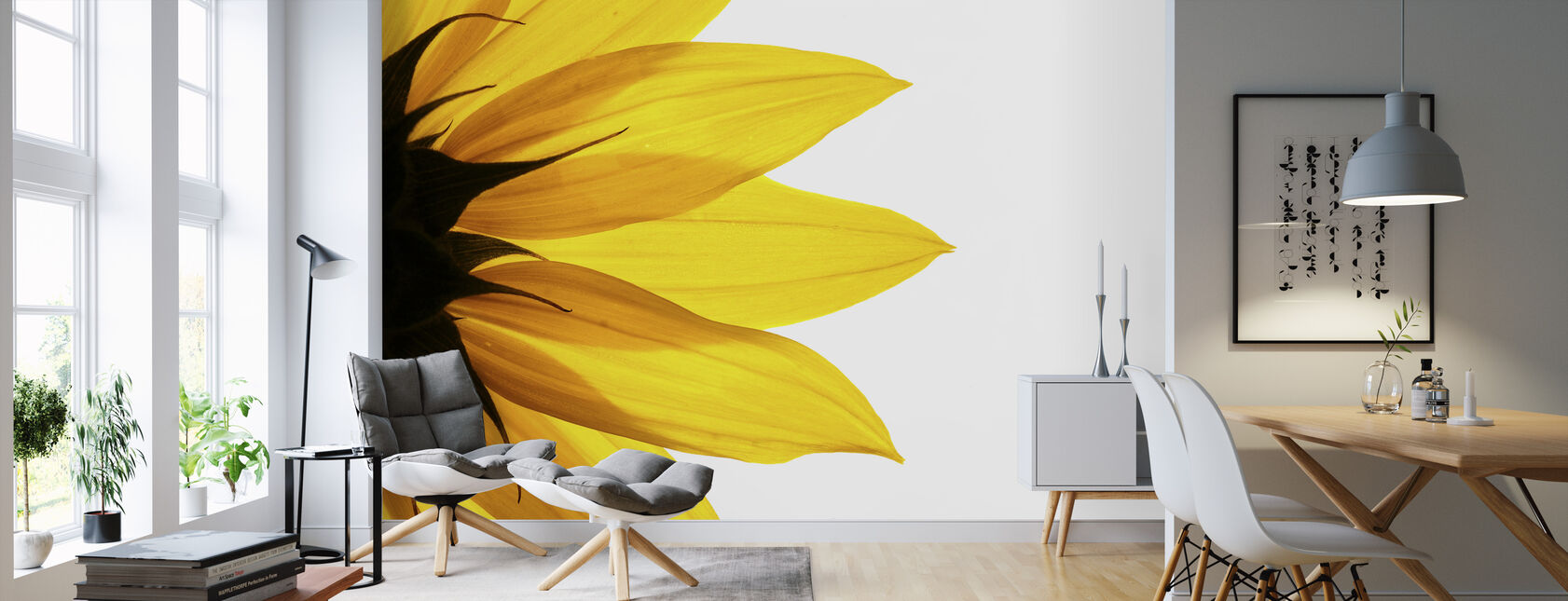 Sunflower Detail - Wallpaper - Living Room