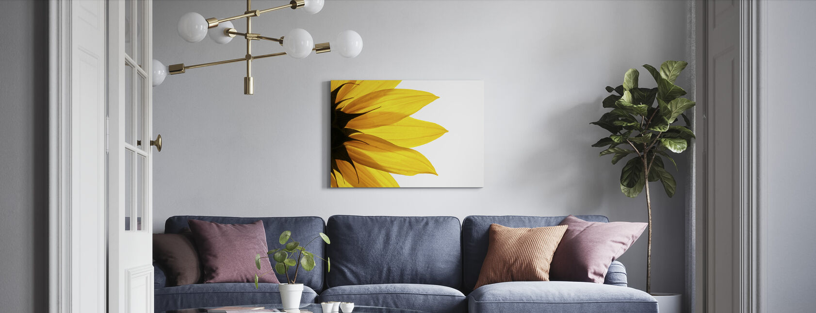 Sunflower Detail - Canvas print - Living Room