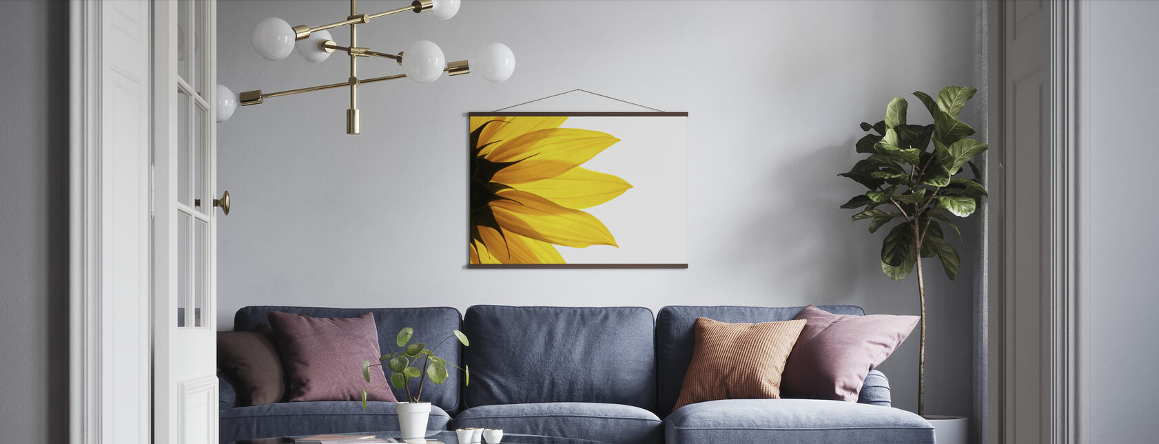 Sunflower Detail - Poster - Living Room