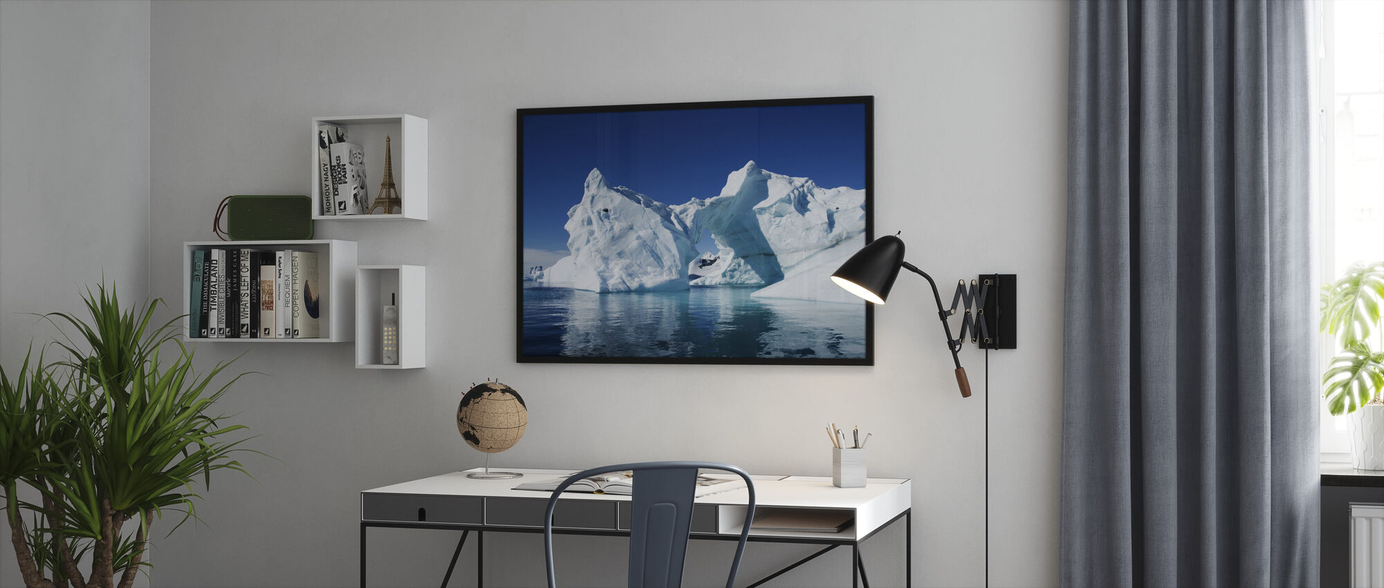 Iceberg Antarctica - Framed print - Office