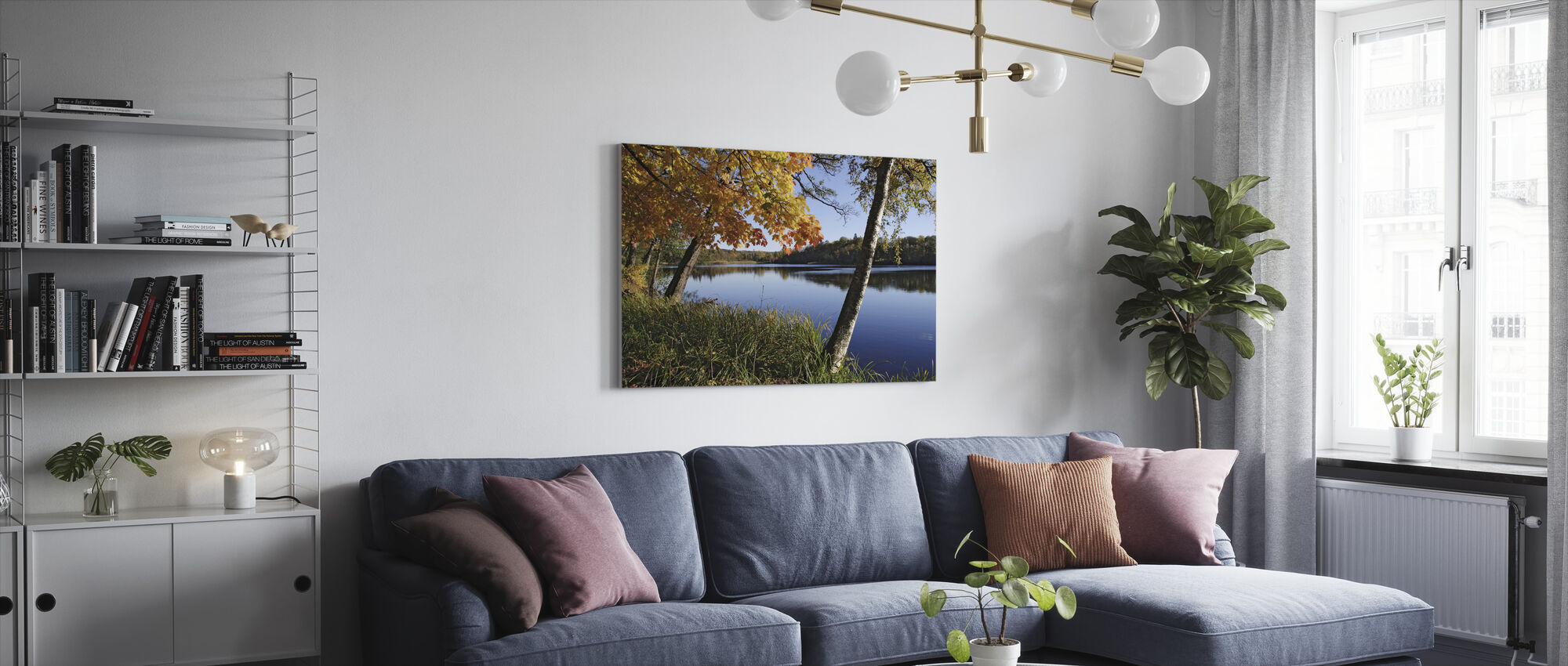 Autumn Lake - Canvas print - Living Room