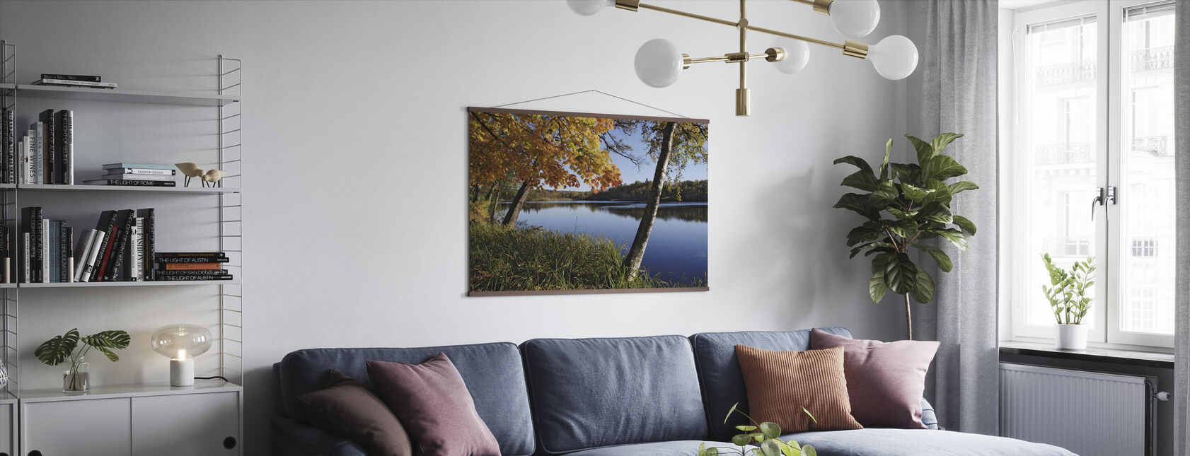 Autumn Lake - Poster - Living Room