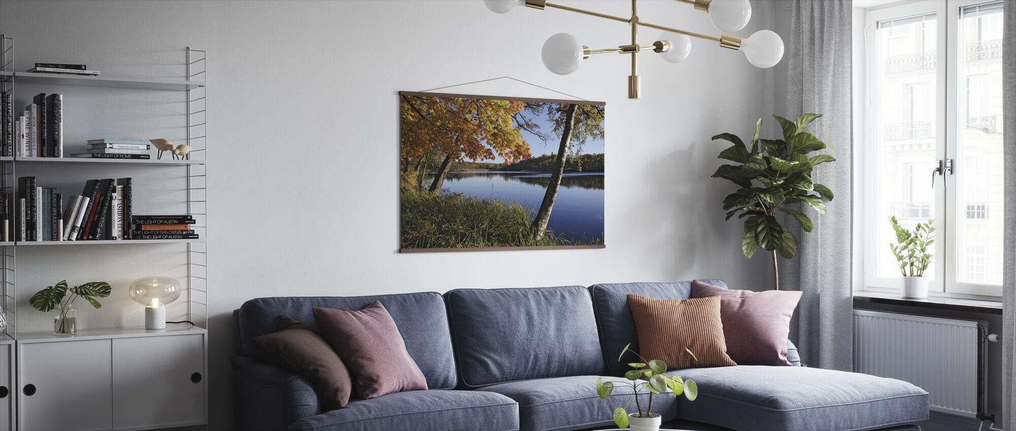 Autumn Lake - Poster - Living Room