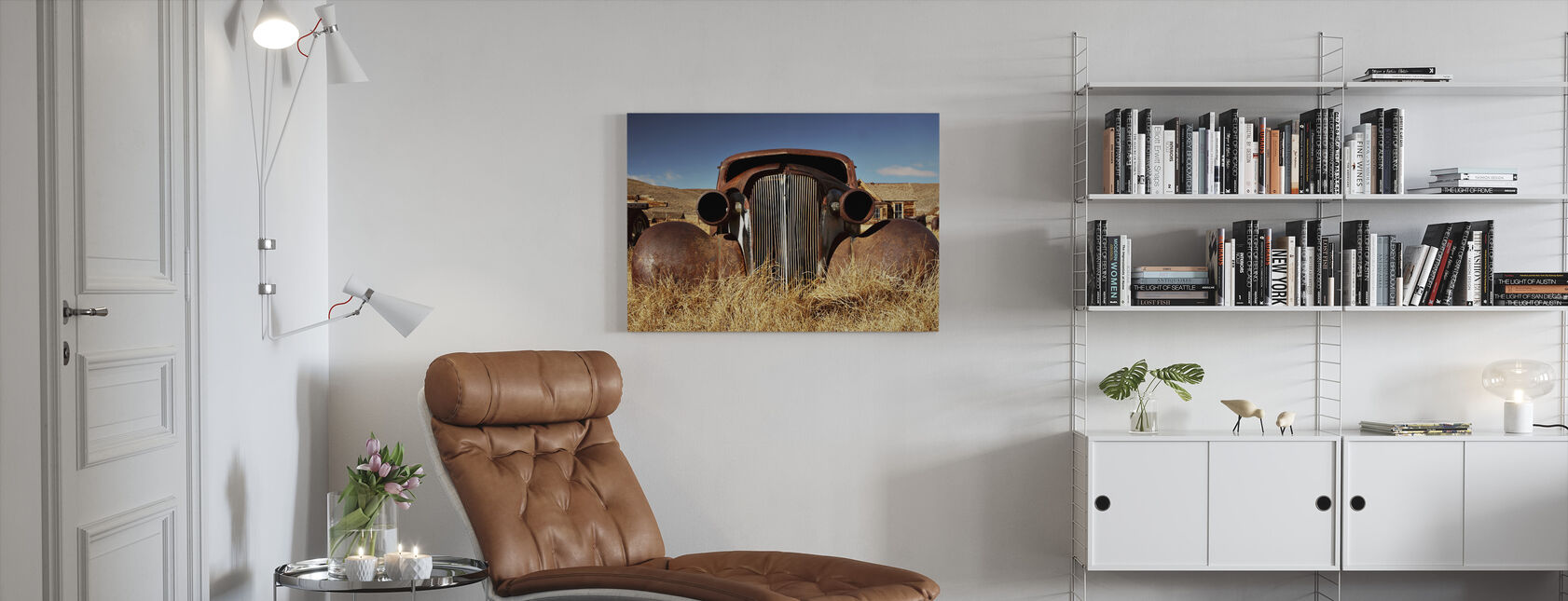 Car abandoned in the 1930's - Canvas print - Living Room