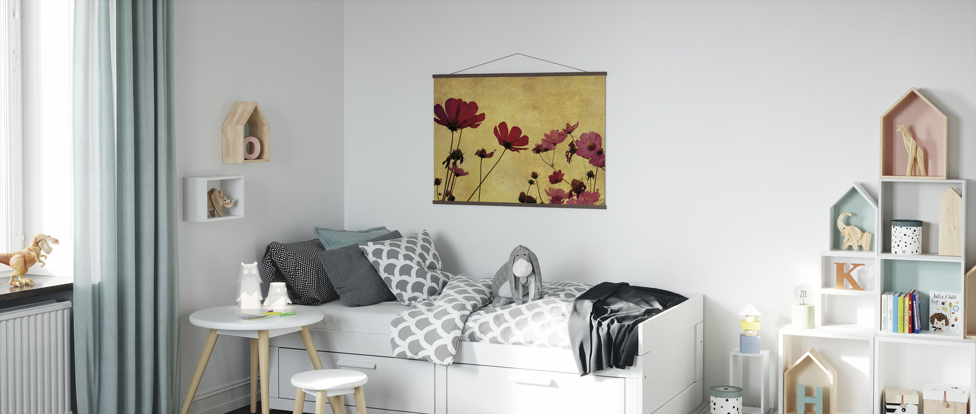 Old Fashioned Flower - Poster - Kids Room