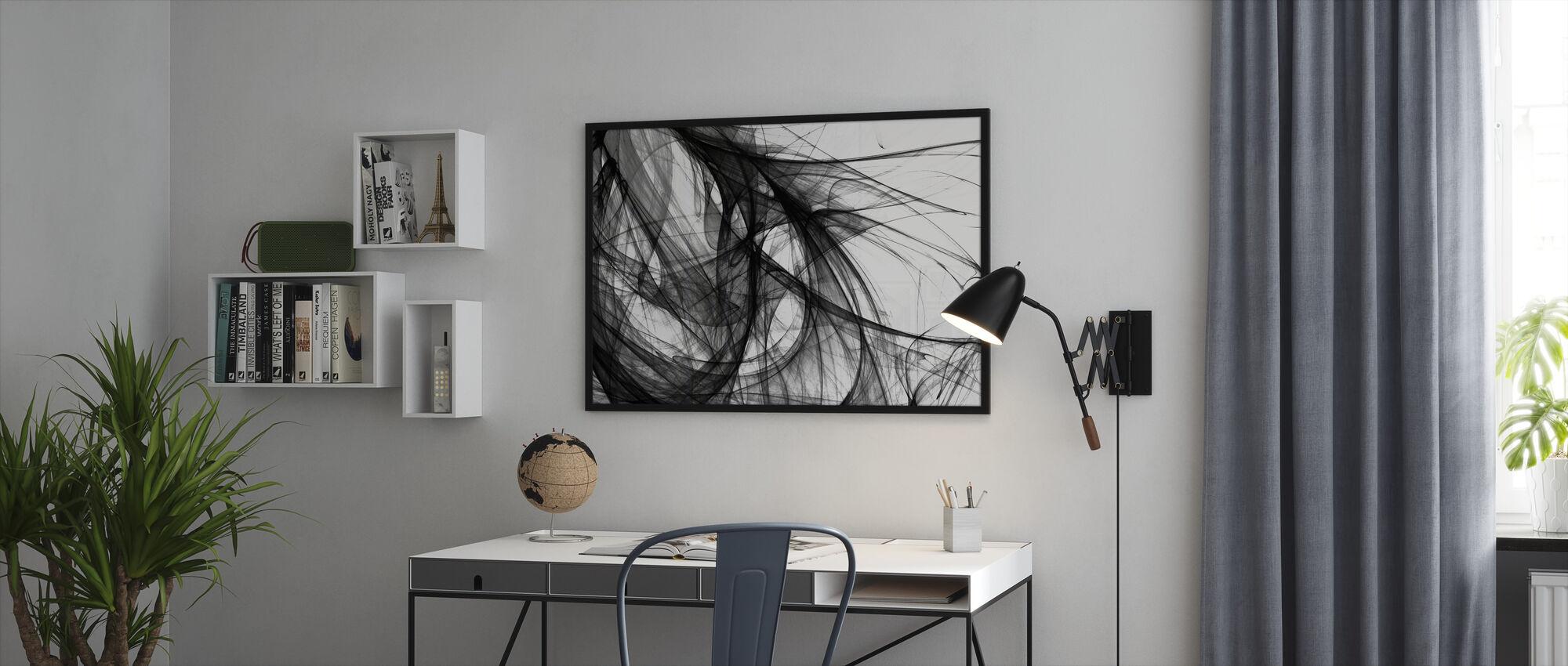 Inner Light - b/w - Framed print - Office