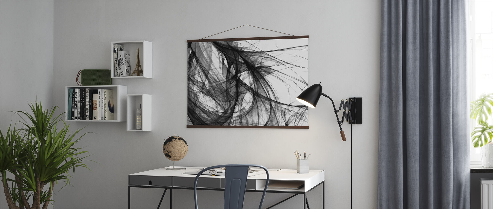 Inner Light - b/w - Poster - Office