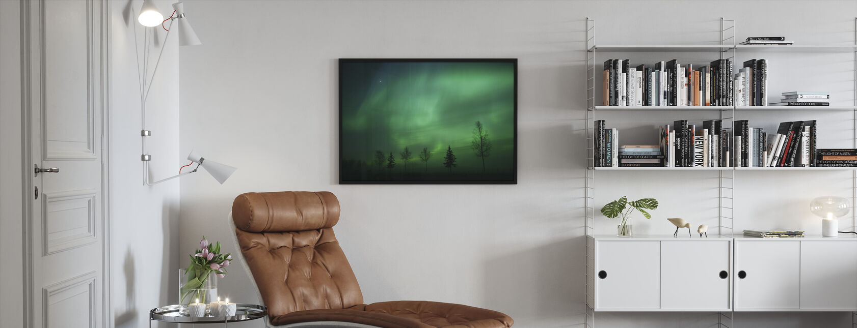 Nordic Lights - Framed print - Living Room