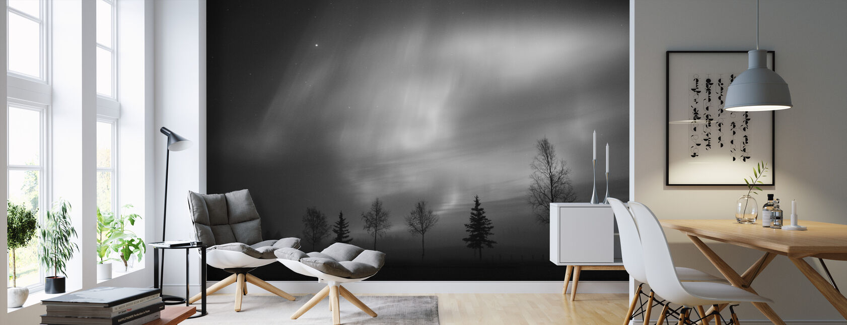 Nordic Lights - Wallpaper - Living Room
