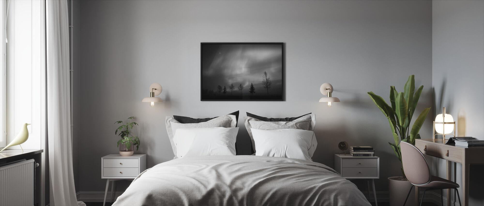 Nordisk lys - Innrammet bilde - Soverom