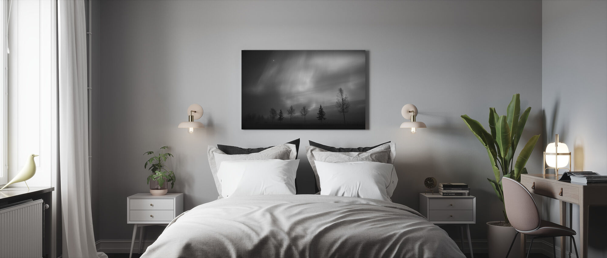 Nordic Lights - Canvas print - Bedroom