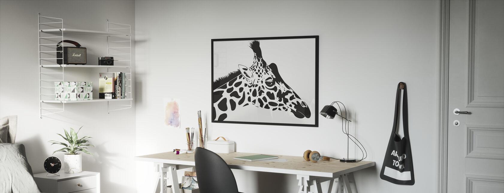 Giraffe - Framed print - Kids Room