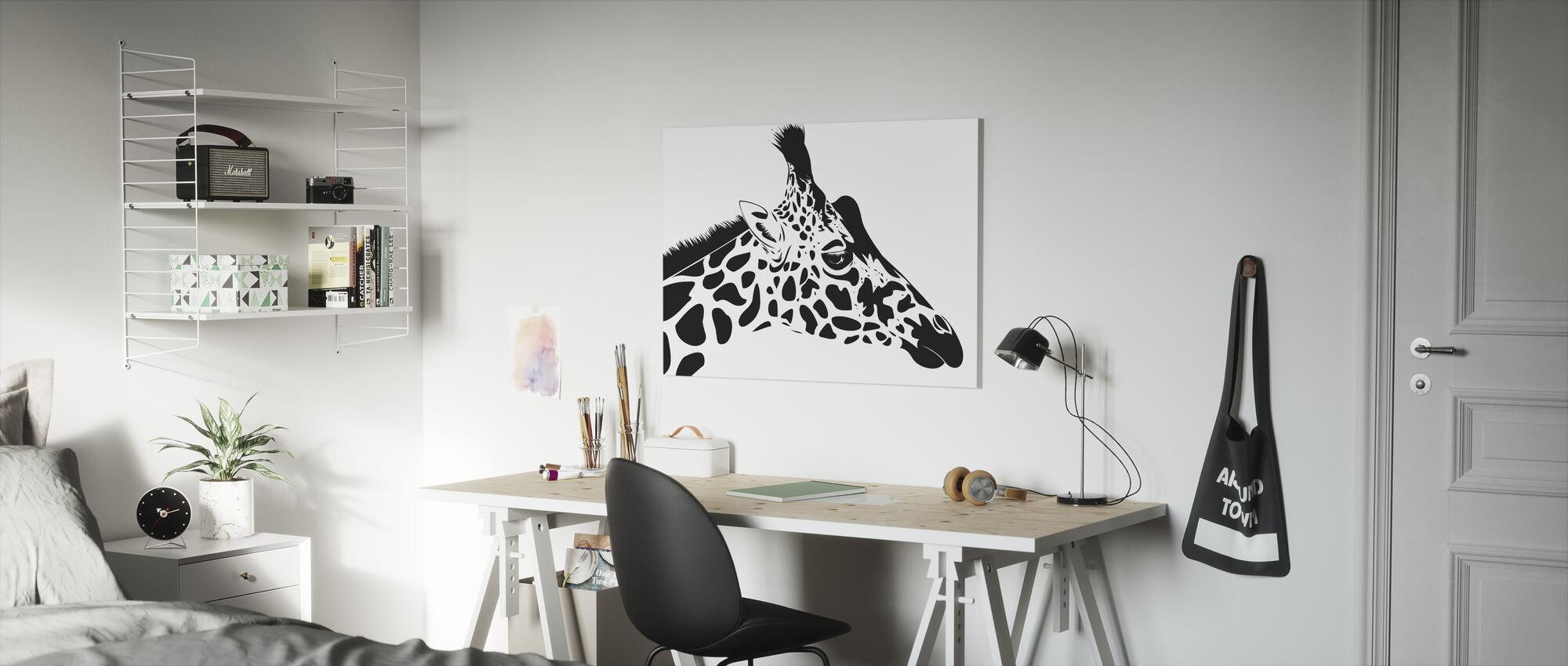 Giraffe - Canvas print - Kids Room