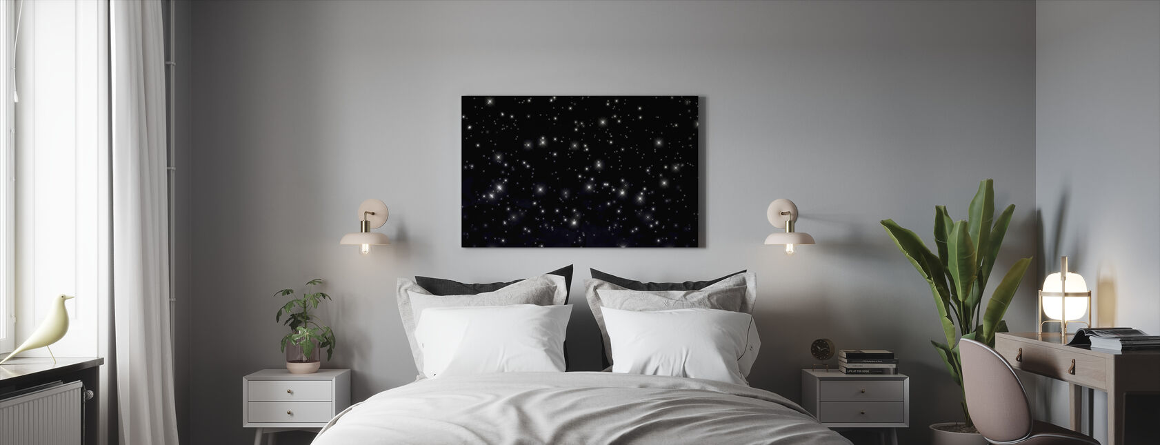 Starry Space - Canvas print - Bedroom