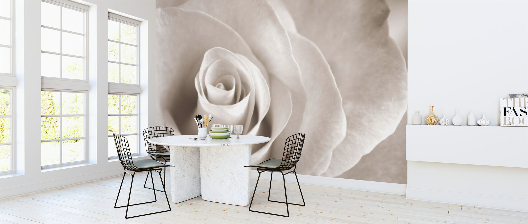 Soft Rose - Sepia - Wallpaper - Kitchen