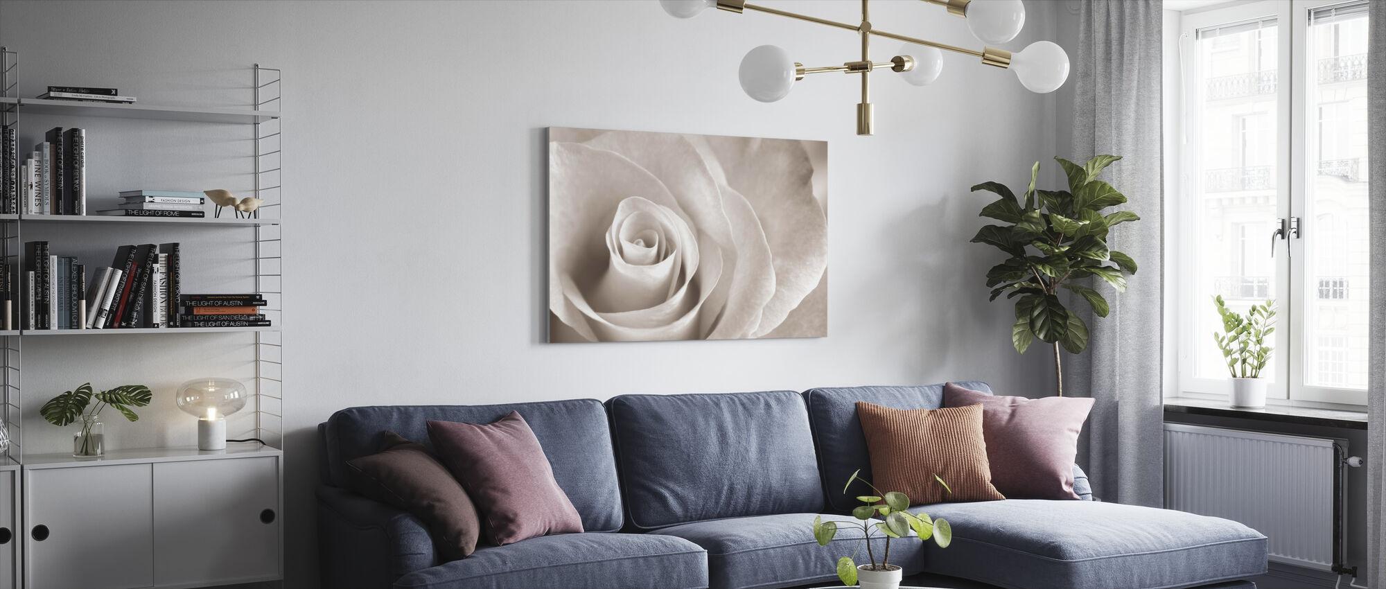 Soft Rose - Sepia - Canvas print - Living Room