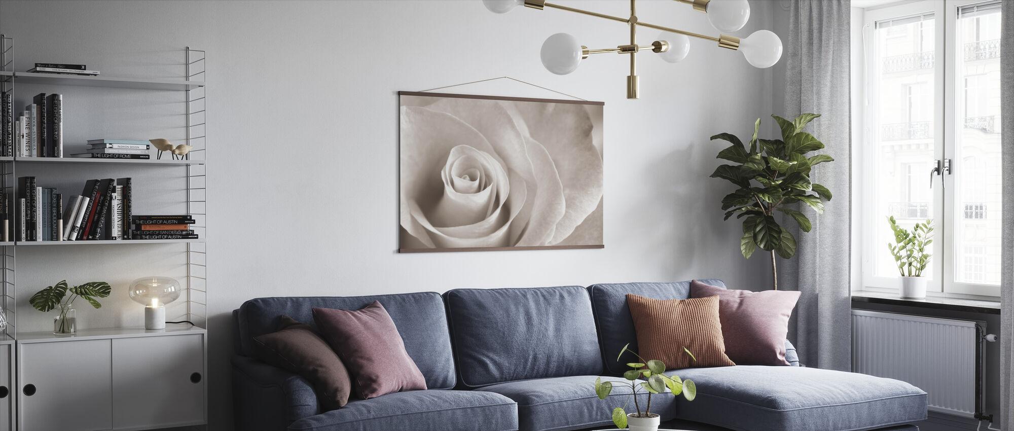 Blød Rose - Sepia - Plakat - Stue