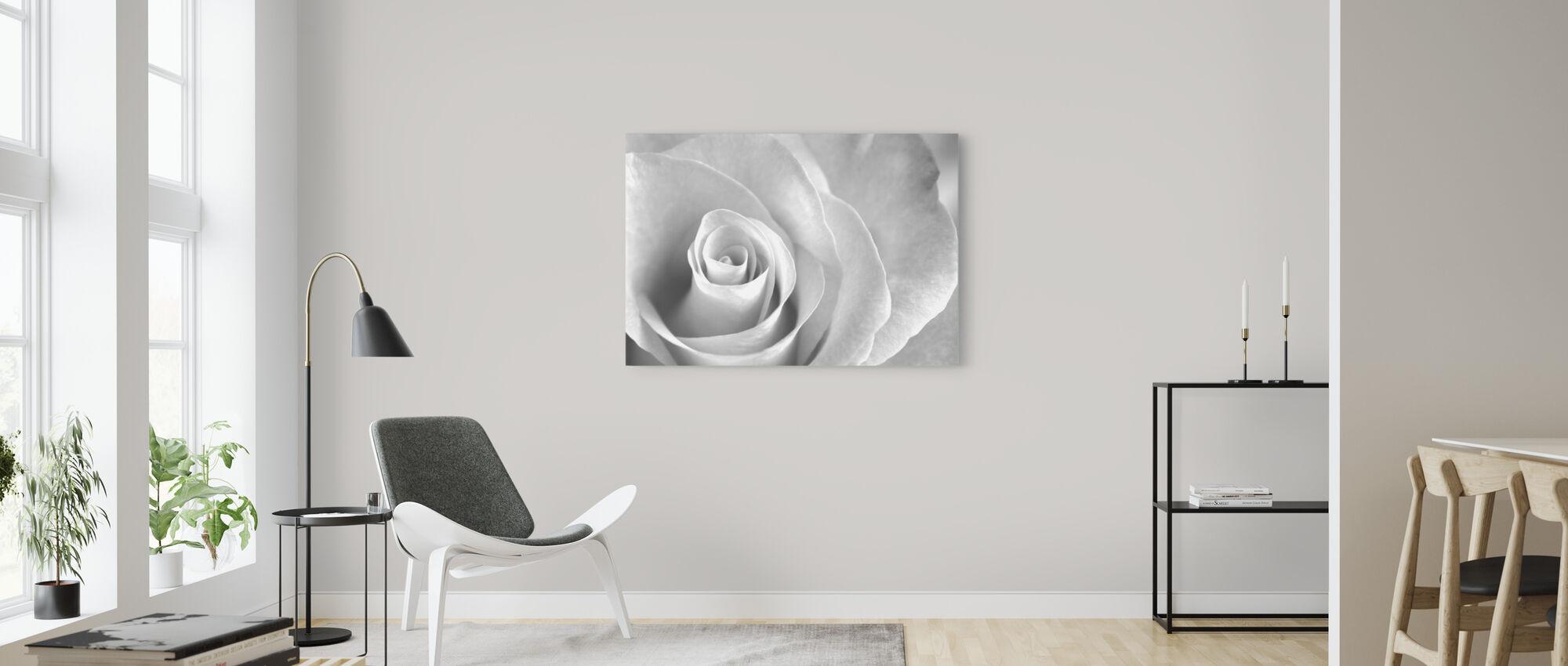 Soft Rose - b/w - Canvas print - Living Room