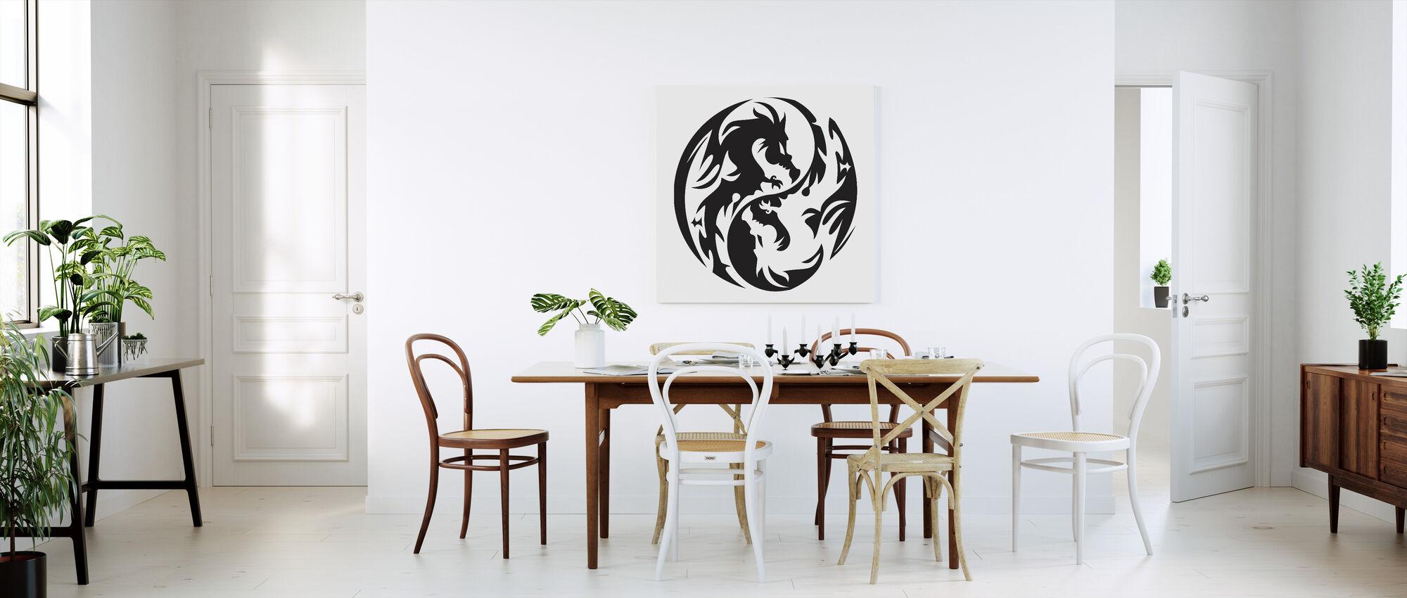 Circle Dragons - Canvas print - Kitchen