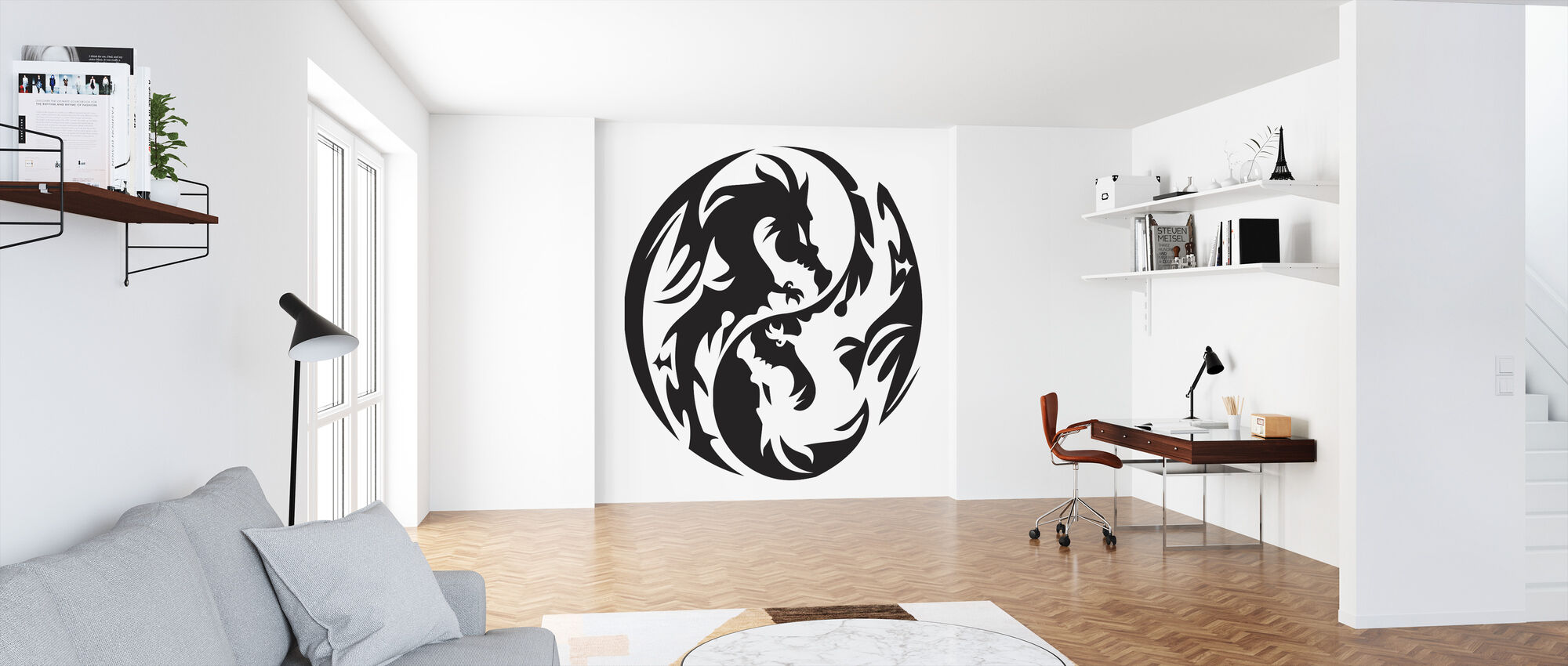 Circle Dragons - Wallpaper - Office