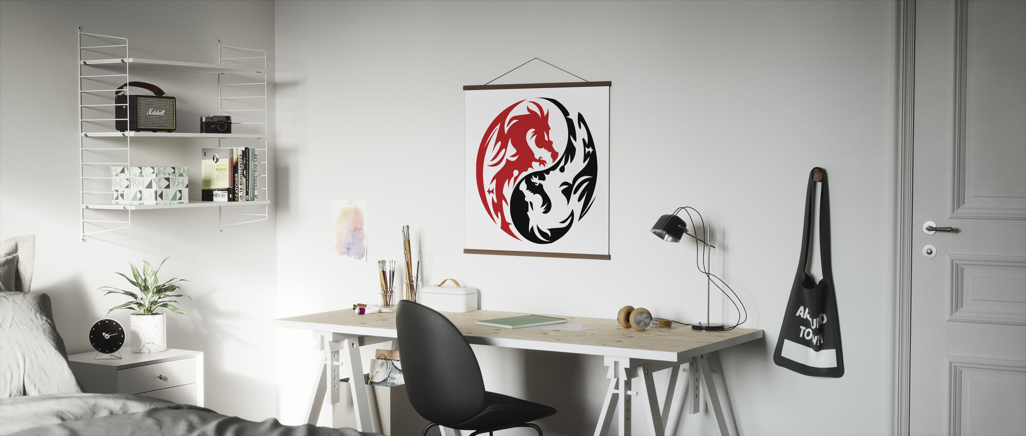 Circle Dragons - Red - Poster - Office