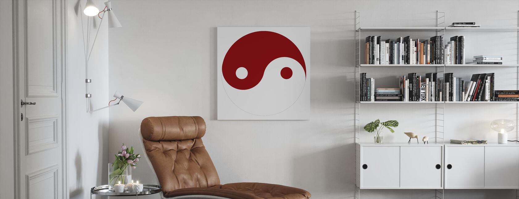 Yin-Yang - Rood - Canvas print - Woonkamer