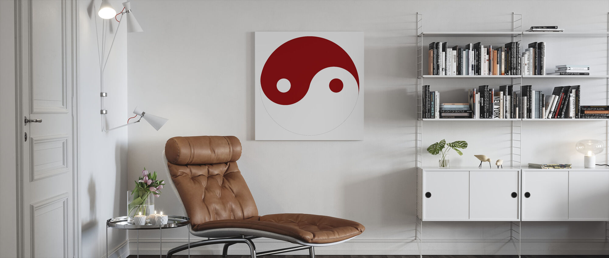 Yin-Yang - Red - Canvas print - Living Room