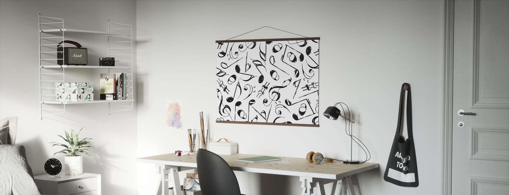 Grunge Musical Notes - Poster - Office