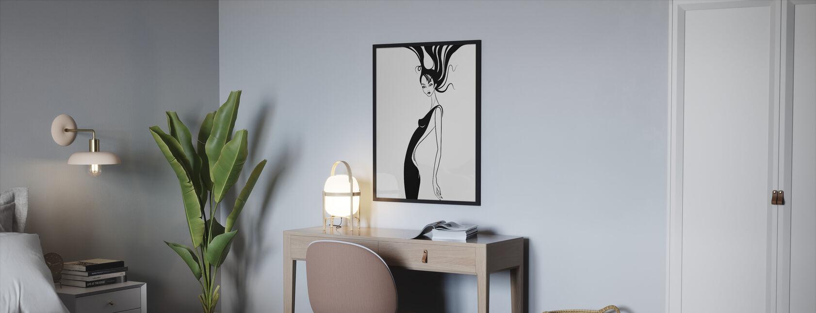 Retro Glamour - Ingelijste print - Slaapkamer