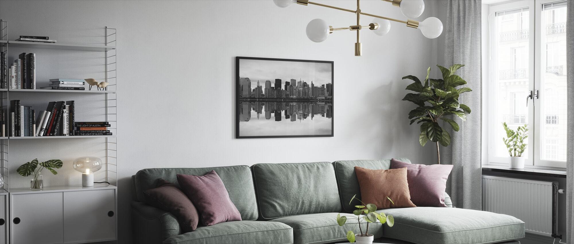 Manhattan - Inramad tavla - Vardagsrum