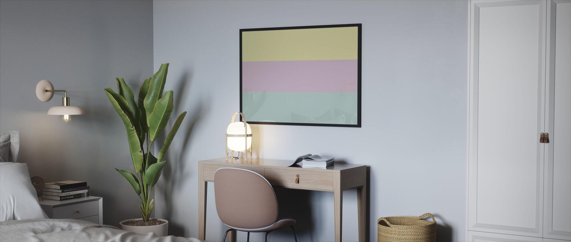 Pastell - Ingelijste print - Slaapkamer