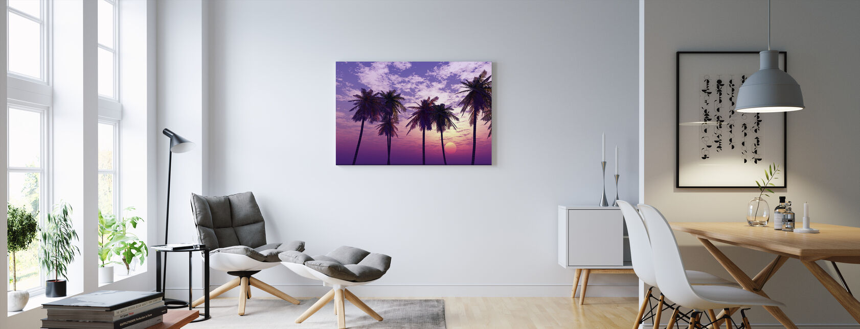Kaunis auringonlasku - Canvastaulu - Olohuone