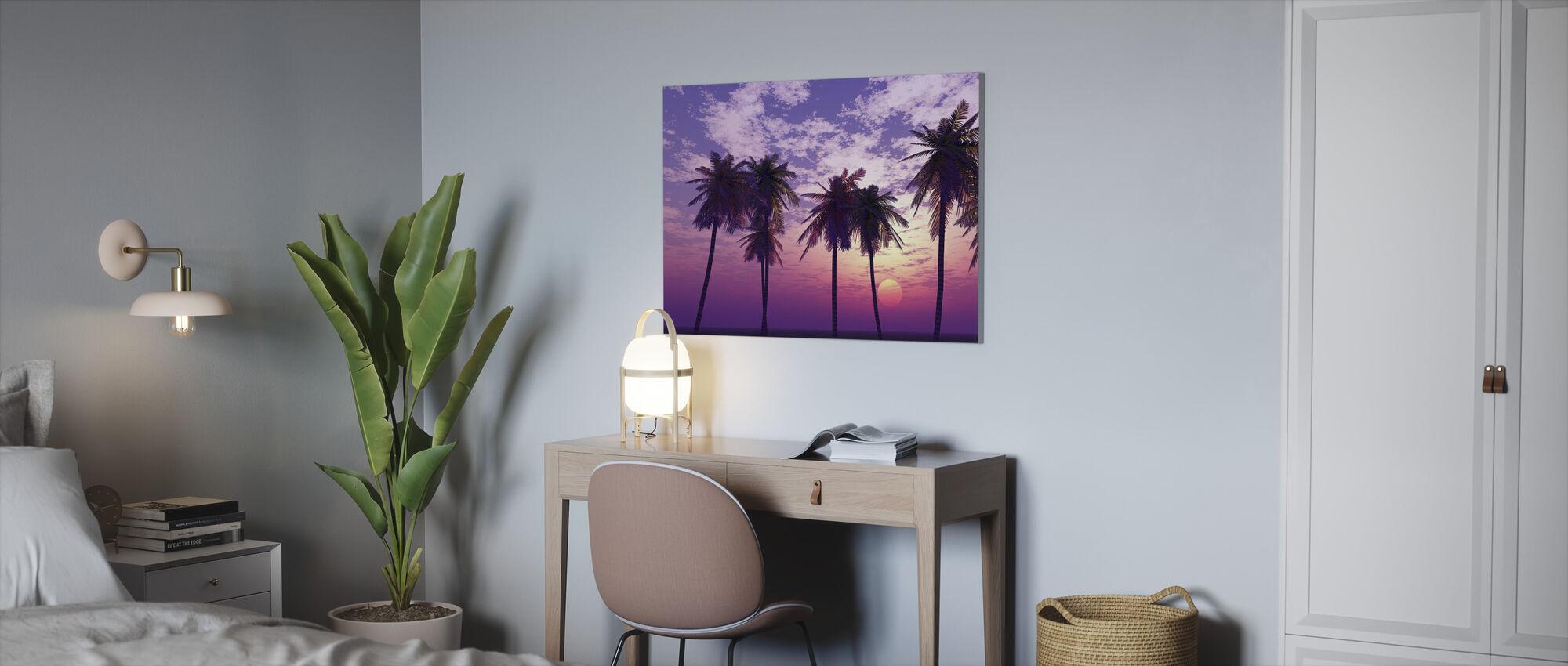 Vacker solnedgång - Canvastavla - Kontor