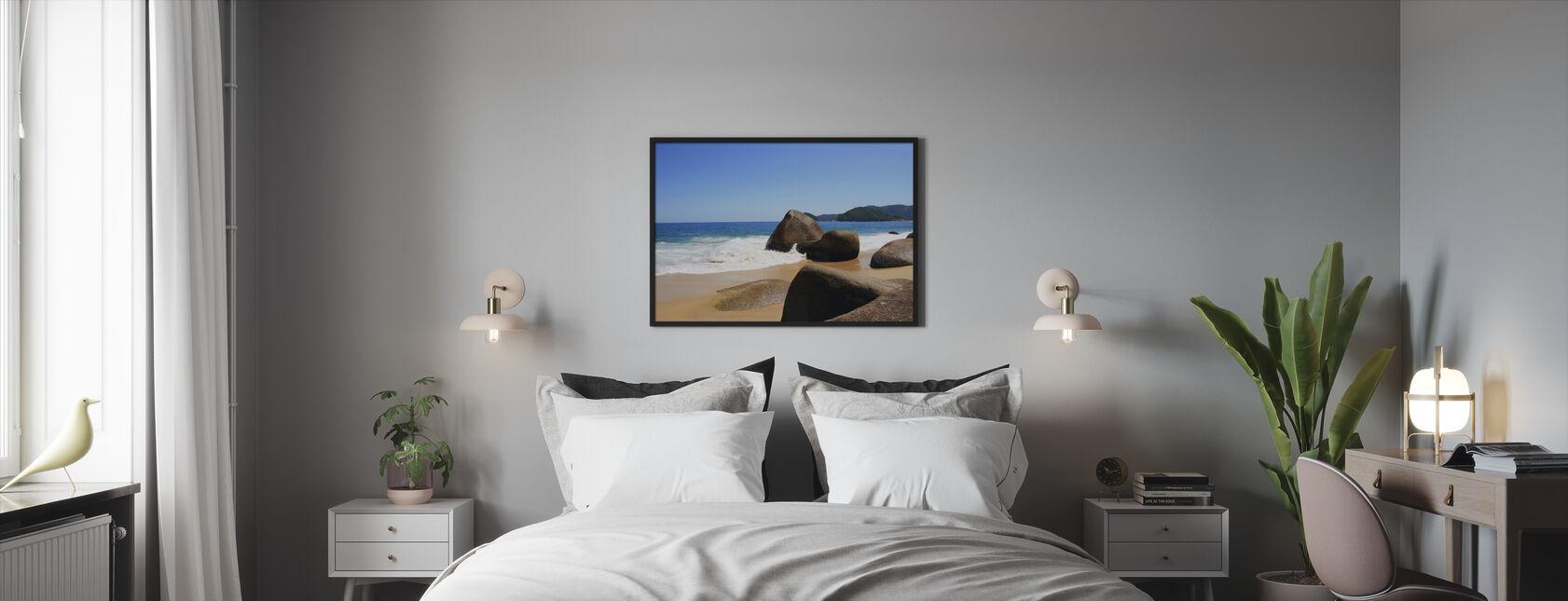Mooi Strand in Brazilië - Ingelijste print - Slaapkamer