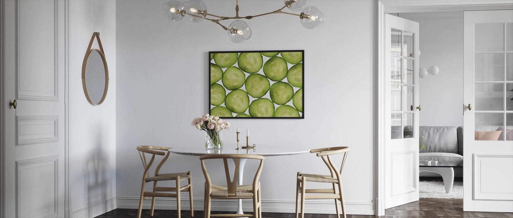 Slices of Cucumber - Framed print - Kitchen