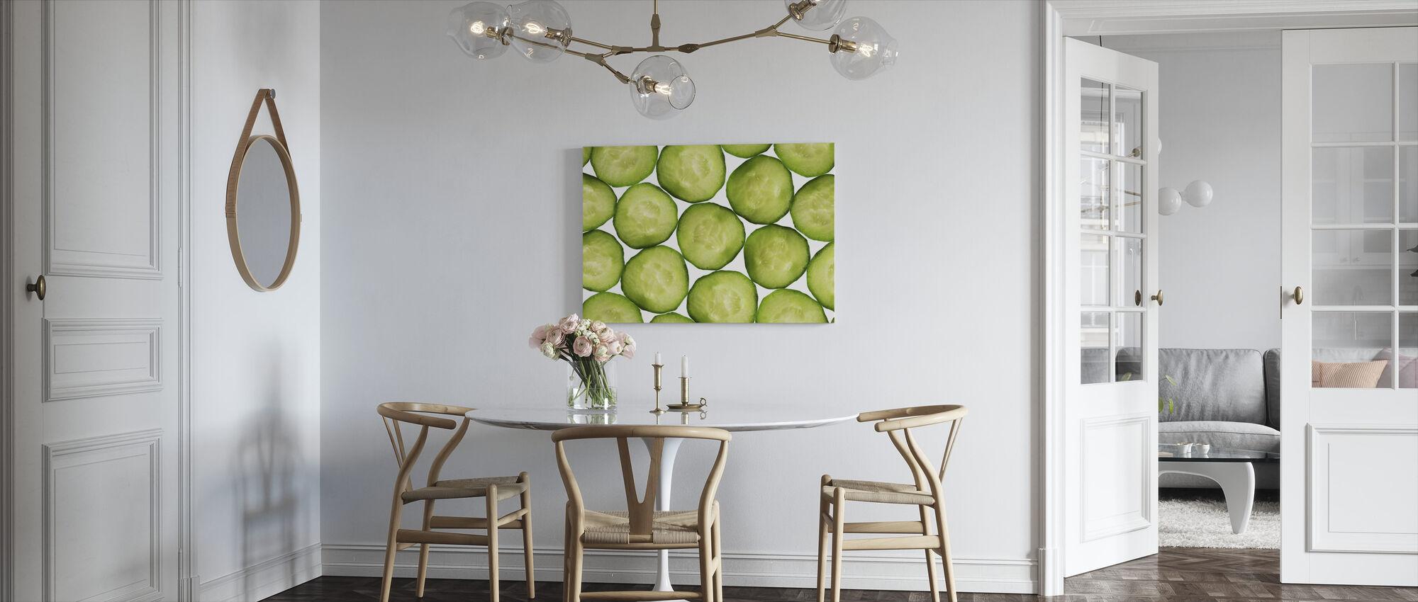 Slices of Cucumber - Canvas print - Kitchen