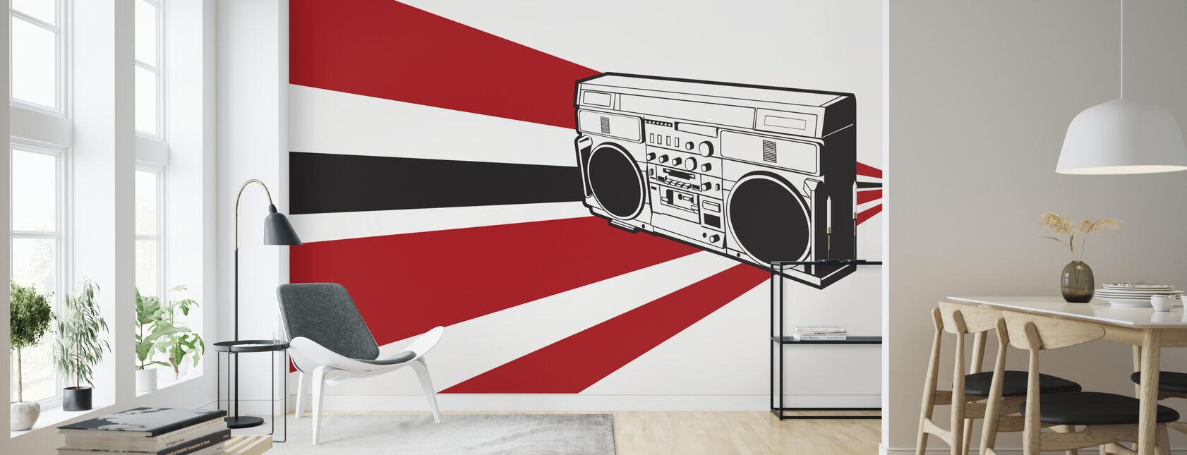 Stereo - Wallpaper - Living Room