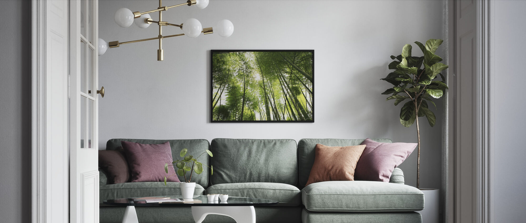 Mahtava bambu - Kehystetty kuva - Olohuone