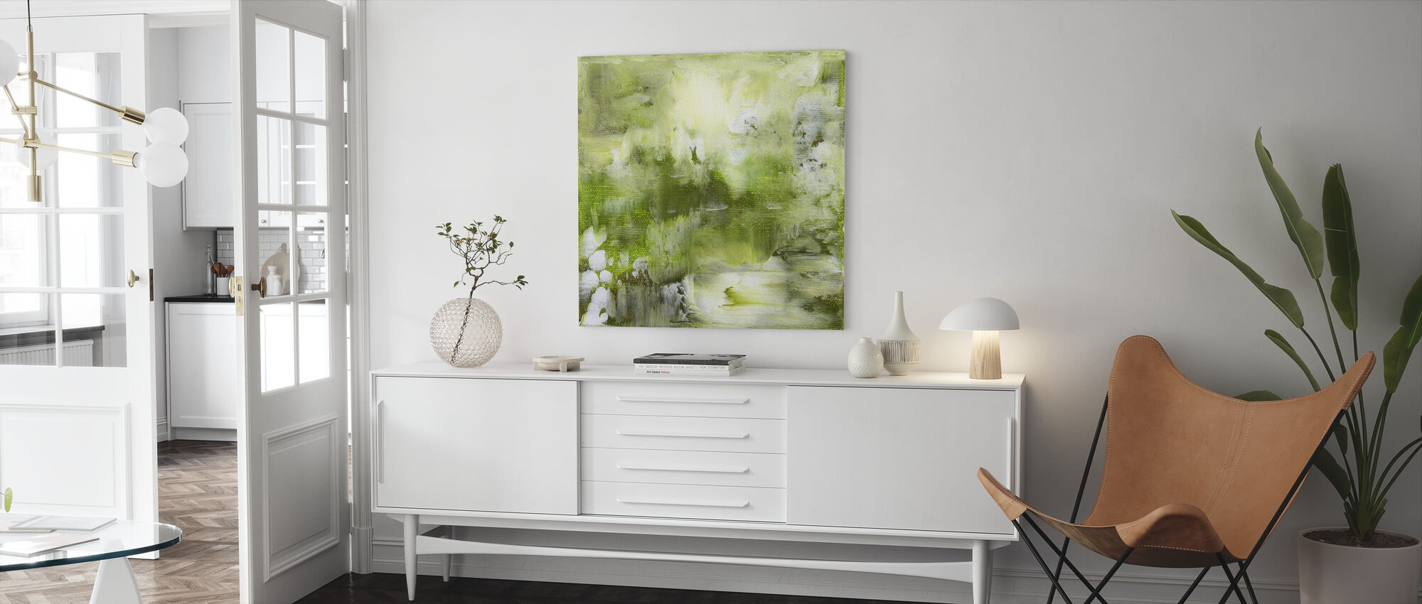 Shades of Green - Canvas print - Living Room