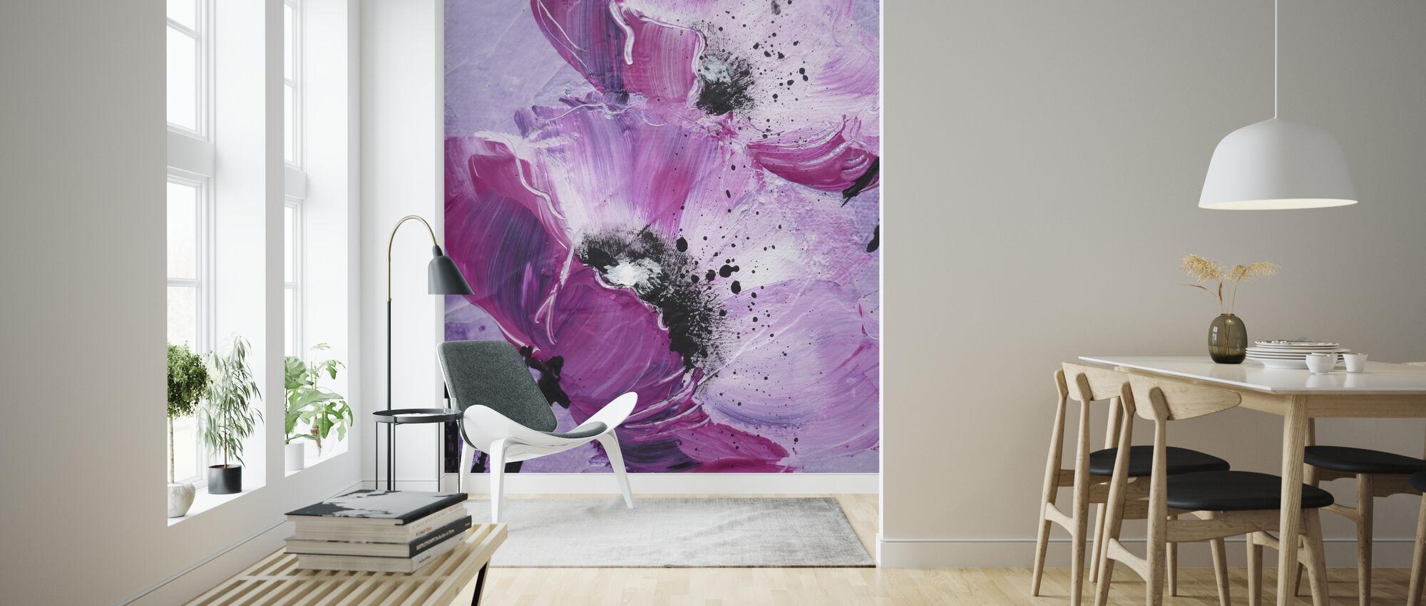 Violet Poppy Harmony - Tapet - Stue