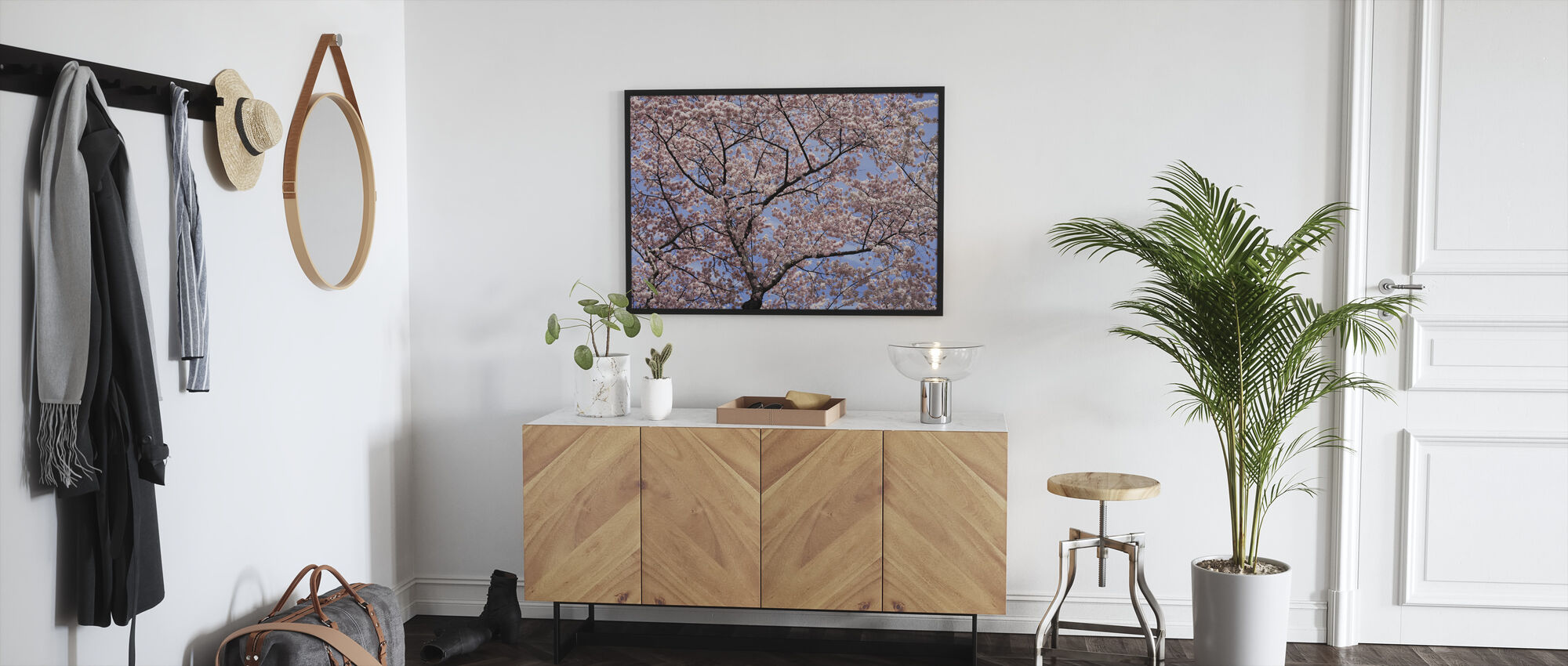 Blooming Cherry Tree - Framed print - Hallway