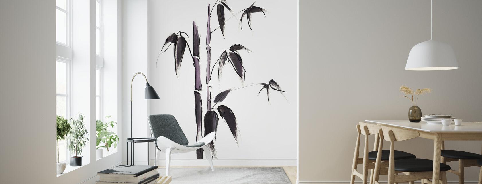 Bamboo Illustration - Wallpaper - Living Room