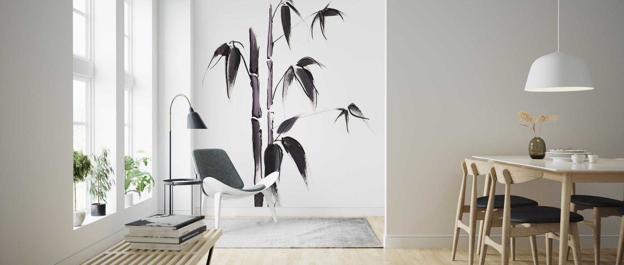 Bamboe Illustratie - Behang - Woonkamer