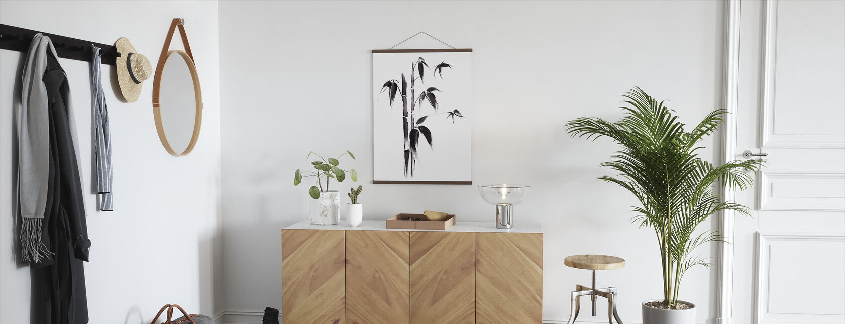 Bamboo Illustration - Poster - Hallway