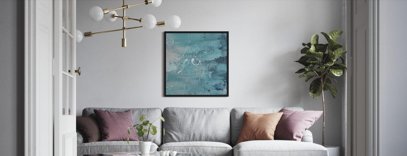 After Turquoise - Framed print - Living Room