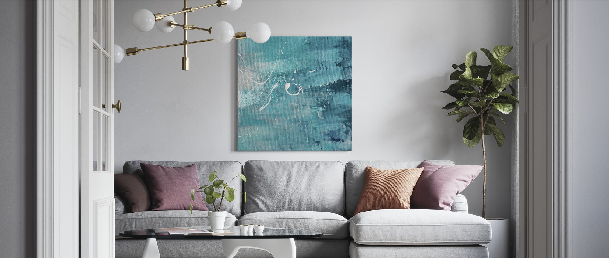 After Turquoise - Canvas print - Living Room