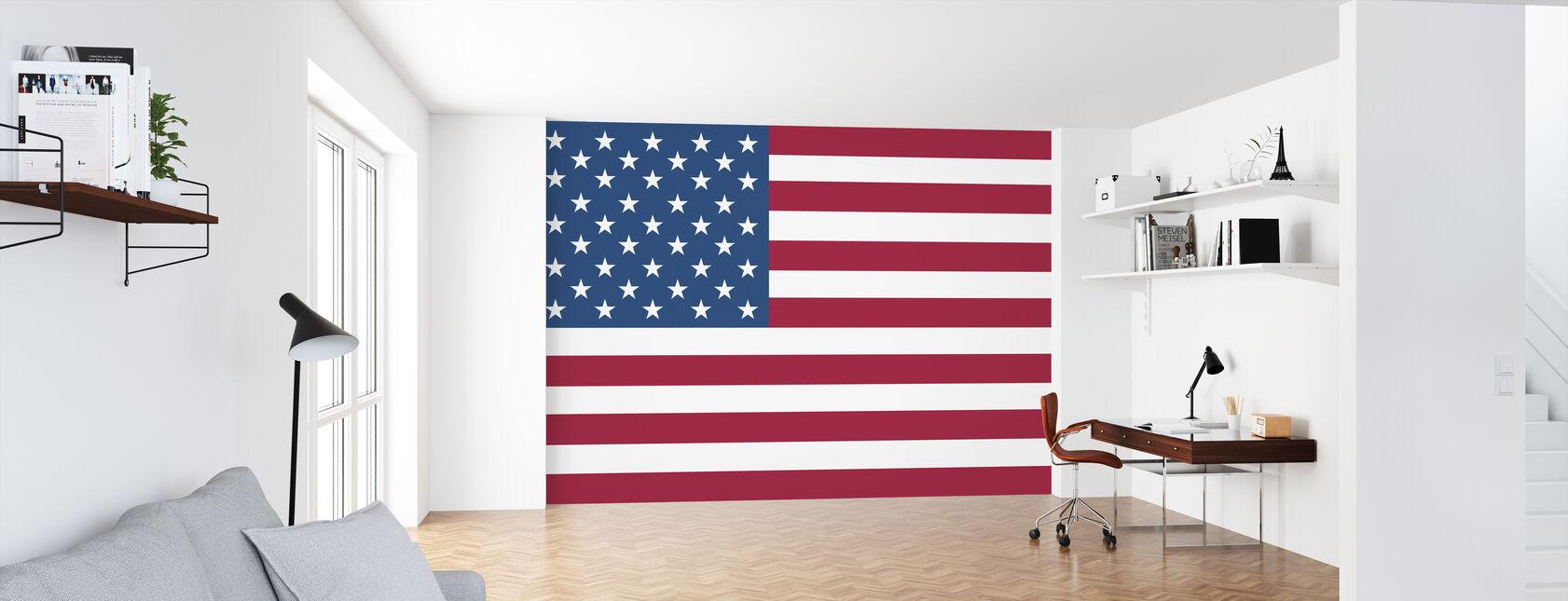 Förenta staternas flagga - Tapet - Kontor