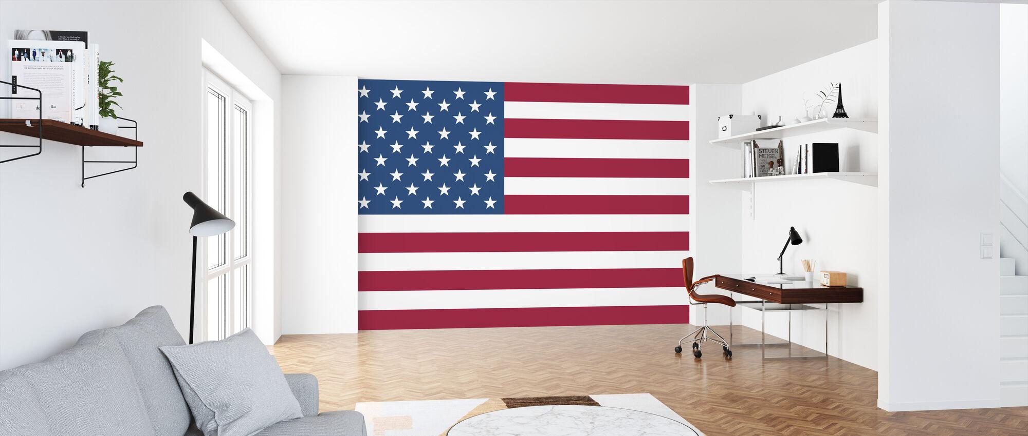 Vlag van Verenigde Staten - Behang - Kantoor