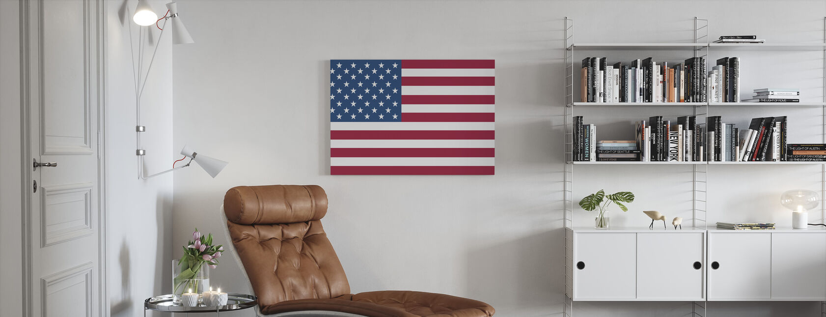 Flag of United States - Canvas print - Living Room
